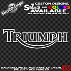 Triumph motorcycle Custom Vinyl Sticker Decal Car Truck MC Tank retro HD Bike $2.99 USD on eBay