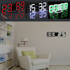 Digital LED 3D Desk Table Night Time Wall Clock 24/12 Alarm Snooze Large Display