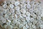 Small 11mm 18L White 2 Hole Buttons Craft Card Making Scrap Book Button K4