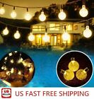 Внешний вид - 20ft 30 LED Solar String Ball Lights Outdoor Waterproof Warm White Garden Decor