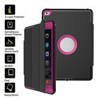 Shockproof Heavy Duty Smart Cover Cases For iPad 2 3 4 Mini 1 2 3 4 Air Pro 9.7""