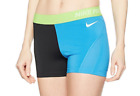"Nike Women's 3"" Colorblock Compression Training Shorts 725449 435 S thru Large"