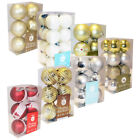 6 Pack Christmas Tree Baubles 7 Styles Festive Decoration Xmas Display Ornament