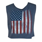 USA American Flag Patriotic Women's Navy Crop Top Blue