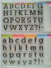 Clear Stamp Set Upper or Lower Case Brand New and Free Postage.