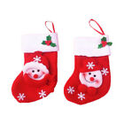 Xmas Tree Hanging Ornament Xmas Party Decor Santa Claus Sock Candy Gift Bag