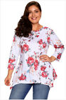 New Fashion Loose Floral Print Tops Long Sleeve Ladies Plus Size Women Blouse