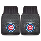 Chicago Cubs Heavy Duty Floor Mats 2 & 4 Pc Sets for Car Trucks & SUV's
