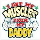 Daddy muscle kid TShirt robber baby shower birthday gift boy girl US size