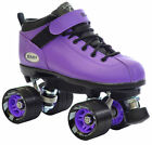 Riedell Purple Dart Quad Roller Derby Speed Skates w 2 Pair Laces Purple & Black