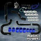 Black Intercooler Piping  + Type RS BOV  + Blue Couplers Kit for 1992-1995 Civic