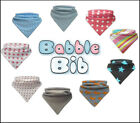 NEW BABBLE BIBS DRIBBLE BANDANA BIB FOR TEETHING BABIES