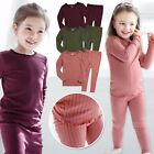 "Vaenait Baby Toddler Kids Girls Modal Clothes Sleepwear Set ""Shirring"" 12M-7T"