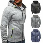Men's Slim Hoodie Warm Hooded Sweatshirt Coat Jacket Outwear Winter Sweater Cozy