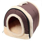 Indoor Dog House Pet Puppy Kennel Soft Cloth Warm Bed Shelter Cushion Tent