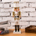 New Large Wood Soldier Drummer King Cook Santa Clause Nutcracker Home Decorative