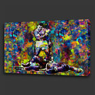 MUHAMMAD ALI LISTON FIGHT COLOURFUL WALL ART CANVAS PRINT PICTURE READY TO HANG