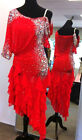 U5952 Cocktail ballroom women rumba chacha salsa Latin dance dress Custom made
