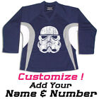 Stormtrooper Star Wars Hockey Practice Jersey Optional Name & Number - Navy