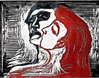 Man and Woman I by Edvard Munch. Fine Art Reproduction Prints on Canvas or Paper