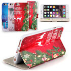 For 4.7'' iPhone 6S Christmas Pattern PU+TPU Back Case Cover Shell Protector New
