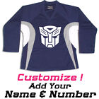 Robots Hockey Practice Jersey Optional Name & Number - Navy