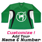 Green Hornet Multi Color Hockey Practice Jersey Optional Name & Number - Green