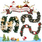 Traditional 6Ft Large Christmas Garland Pre Lit Fireplace Decoration