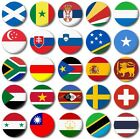 """WORLD FLAGS Various 25mm, 1"""" inch Button Badge S to T"""