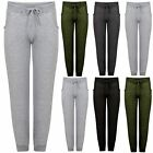 Womens Ladies Fleece Cuffed Bottoms Sweat Tracksuit Jogging Gym Pants Joggers