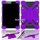 "Universal Shockproof Silicone Stand Cover Case For Various 7' 8"" Tablet + Stylus"