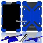"""Universal Shockproof Silicone Stand Cover Case For Various 7' 8"""" Tablet + Stylus"""