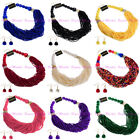 Fashion Jewelry Chain Resin Beads Choker Statement Bib Pendant Necklace Earrings