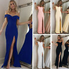 Women Off Shoulder Formal Prom Evening Party Wedding Bridesmaids Lady Maxi Dress