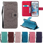 Embossed Flip Card Stand Case Wallet Cover For iPhone SE 6S 7 8 Plus X Touch 6