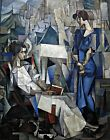 Portrait of Two Women by Rivera. Abstract Repro. Highest Quality U.S.A. Prints