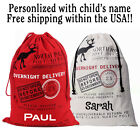 PUT THE PRESENTS IN A PERSONALIZED SANTA SACK- FREE SHIPPING!!!!!