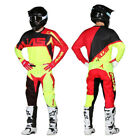 ALIAS MX YOUTH MOTOCROSS KIT BURST NEON YELLOW / RED pants jersey shirt trousers