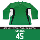 Multi Color Hockey Practice Jersey With Name & Number Combination - Kelly Green