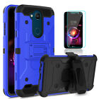 For LG X Charge/Fiesta LTE Case With Kickstand Belt Clip Cover+Screen Protector