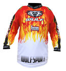 NEW Wulfsport Kids Red Shirt (All Sizes) Motocross Jersey Youth Child Boys Quad