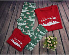 US Stock Family Match Christmas Adult Women Kid Sleepwear Nightwear Pajamas HOT
