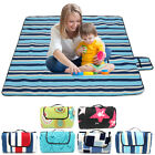 Extra Large Folding Picnic Blanket Family Camping Mat Waterproof Outdoor Rug UK