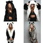 New Popular Faux fur  ears cartoon ladies jacket Plush coat  New Fashion Hooded