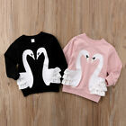 Внешний вид - Cute Baby Kids Girls Pullover Blouse Cotton Top T Shirt Tee Long Sleeve Clothes