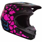 Fox Racing V1 MX Helmet Leopard Print Pink/Black Womens 17354-285