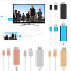 1080P 6FT 8 Pin to HDMI TV AV Adapter Cable for iPhone 5 6 6S iPhone 7 7 Plus