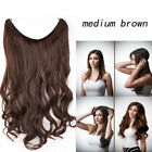 """Headband Beauty Wavy Secret Human Hair Invisible Wire Hair Extension 16~24"""" 100g"""