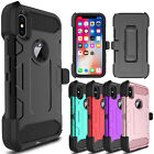 For iPhone X / XS Ten Shockproof Kickstand Clip Full Protective Phone Case Cover