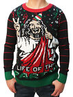 Ugly Christmas Sweater Teen Boy's Jesus Is The Life Of The Party Sweater